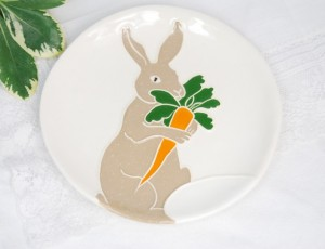 Easter Decorations - Easter Bunny Trinket Plate