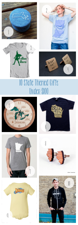 10 State Themed Gifts Under $100