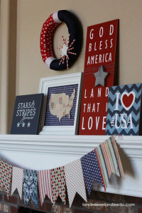 Fourth of July Mantel
