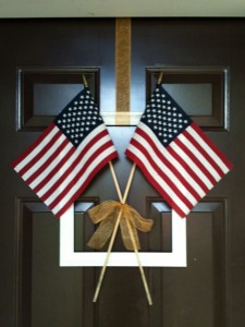 Simple Fourth of July Door Decor