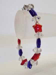 Red White and Blue Star Bracelet