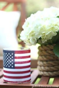American Flag Candle Holder