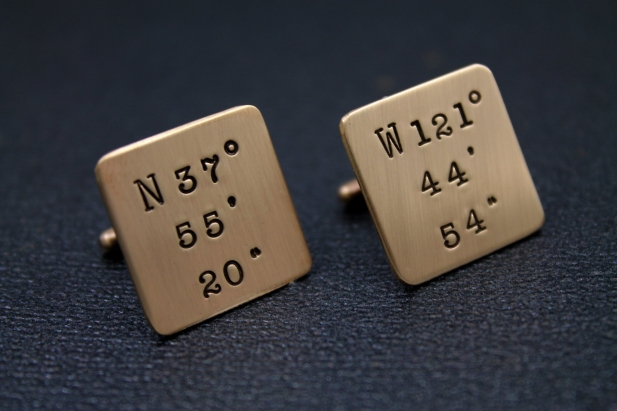 A Gift For Him on Fathers Day: Personalized Cufflinks