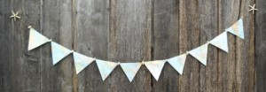 Nautical Home Decor - Nautical Map Bunting Party Decoration