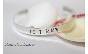 Personalized Jewelry Gift Ideas - Roman Numeral Personalized Custom Silver Cuff