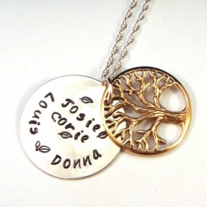 Personalized Jewelry Gift Ideas - Personalized Tree of Life Family Tree Necklace: http://aftcra.com/crowstealsfire/listing/5101/personalized-tree-of-life-family-necklace