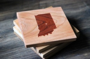 Gift Ideas for Him Under $50 - Custom State and City Wooden Coasters