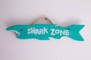 Gift Ideas for Him Under $50 - Distressed Shark Week Beach Sign