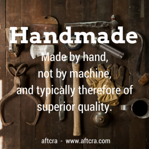 aftcra's Handmade Definition - the only Handmade-only marketplace Etsy