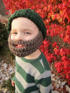 Fathers Day Gift - Knit Beard Hat