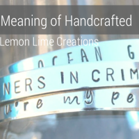 Meaning of Handcrafted - What Does Handcrafted Mean with Lemon Lime Creations on aftcra