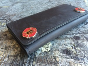 Unique Fathers Day Gift Ideas - Mens Fire Dept Deluxe Trifold Wallet - handcrafted - American Made - aftcra