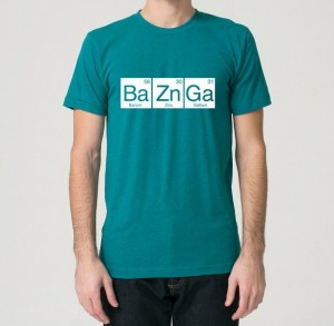Unique Fathers Day Gifts - BAZINGA Periodic Table Graphic Tee Big Bang Theory Fan - handcrafted - American Made - aftcra