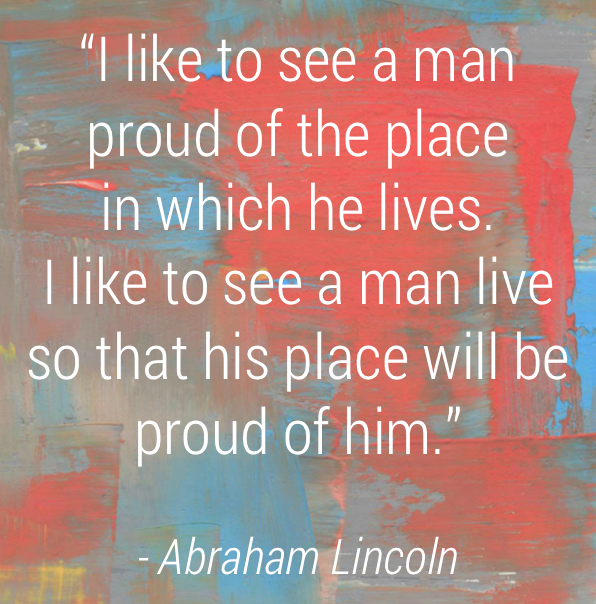 Shop Made in the USA with aftcra - Abraham Lincoln Quote about America