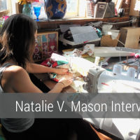 Natalie V Mason Interview on aftcra - Handmade Handcrafted tote bags - ombre pillow throws - hand dyed table runners