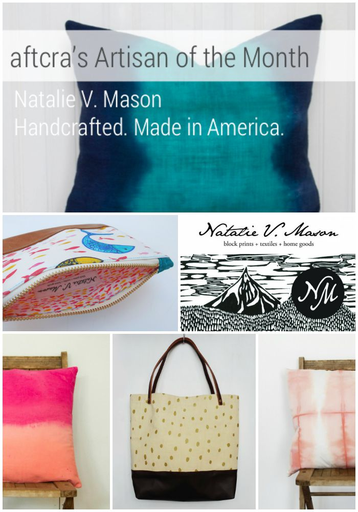 Natalie V Mason on aftcra - handcrafted throw pillows, table runners and tote bags American made 03
