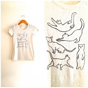 Christmas 2015 Gifts for Her - Cat Crazy Hipster Shirt