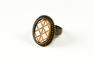 Christmas 2015 Gifts for Her - Geometric White Ring