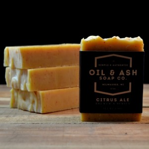 Christmas 2015 Gifts for Him - 2 Pack- Citrus Ale Beer Soap, Exfoliant Soap, Handmade Soap, All