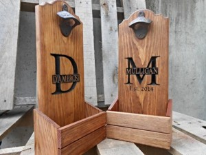 Christmas 2015 Gifts for Him - Bottle cap catcher personalized. Man cave