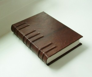 Christmas 2015 Gifts for Him - Handmade book bound in goatskin