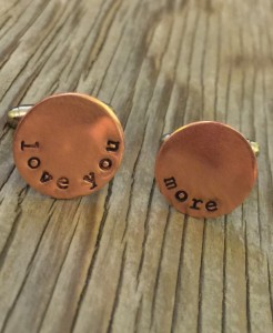 Christmas 2015 Gifts for Him - love you more copper cufflinks for dad
