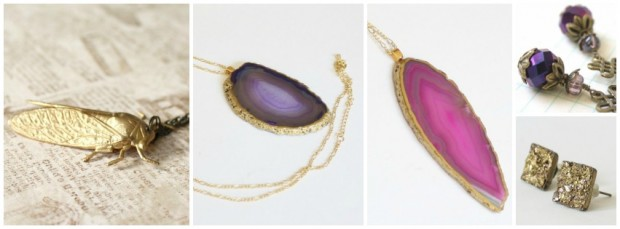 Facebook - Rough Gem - Handmade Victorian Jewelry and Agate Geode Necklaces on aftcra American made jewelry