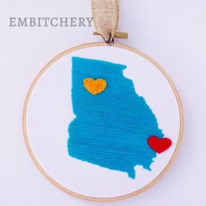 Unique Christmas 2015 Gifts - All Handmade and USA Made - Home State Wall Art - State Outline Art - Unique Wall Art