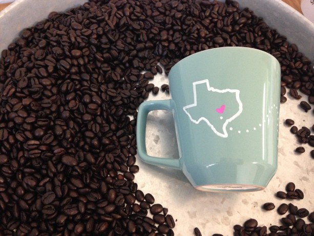 Long Distance Coffee Mugs. Handmade In Texas