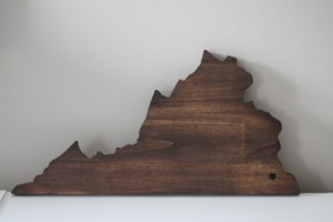 Unique Christmas 2015 Gifts - All Handmade and USA Made - State Love Wood cutout hand cut and stained to your gallery wall