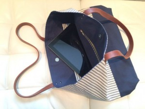 Alexandria Ugarte - Ocean and Ink - Christmas 2015 Holiday Gift Guide for Your Girlfriends - Classic Navy Stripes with Navy Canvas Bottom