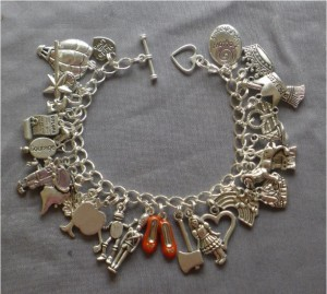 Amy Oestreicher - Allspice and Acrylics - Christmas 2015 Gift Ideas Nine Amazing Artisanal Handmade Christmas Gifts - Wizard of Oz Silver Ruby Slippers Charm Bracelet