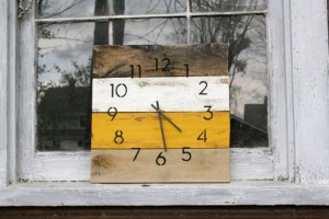 Caroline Papageorgiou of Artsy Print Designs - Christmas 2015 The Gift Guide for Him, Her and Everyone in Between - Handmade Pallet Wood Clock. Modern. Industrial Chic. Rustic.