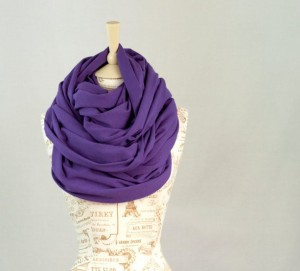 Caroline Papageorgiou of Artsy Print Designs - Christmas 2015 The Gift Guide for Him, Her and Everyone in Between - Oversized Purple Infinity Scarf