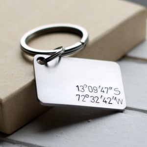 Nine Gift Ideas for Teenage Boys - Handmade and Made in America 01 stainless steel coordinates hand stamped key chain gift idea handmade