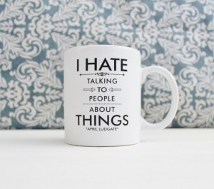 Samantha Crafty Paralegal - Christmas 2015 A Guide to Gifts for Your Family Away from Home - I Hate Talking to People about Things - Parks and Rec tv Show Pop