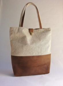 Samantha Crafty Paralegal - Christmas 2015 A Guide to Gifts for Your Family Away from Home - Leather and Tweed Canvas Tote