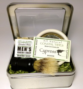 Samantha Crafty Paralegal - Christmas 2015 A Guide to Gifts for Your Family Away from Home - Men's Shaving Kit- Cypress- Woods