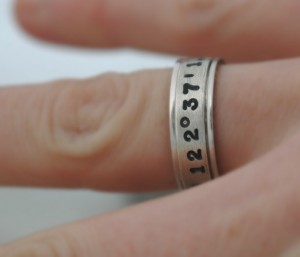 Valentines Gifts for Him - Handmade Gifts American Made Gift Ideas - Husband Gift - Boyfriend Gift - Hand Stamped Latitude and Longitude Coordinates Ring 02
