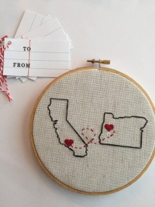 Valentines Gifts for Him - Handmade Gifts American Made Gift Ideas - Husband Gift - Boyfriend Gift - Long Distance Map Custom
