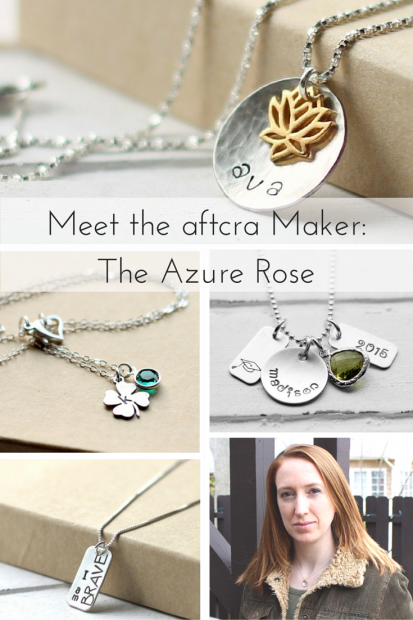Meet the Maker - Genevieve of The Azure Rose on aftcra - Handmade Jewelry Made in the USA Hand Stamped Personal Custom Necklaces Dog Tags Keychains 08
