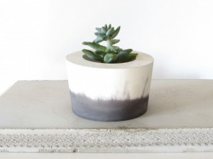 Gifts for Every Mom - The Freedom Project - Black and White Concrete Planter