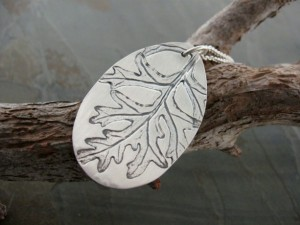 Gifts for Every Mom - The Freedom Project - Fine Leaf Silver Impression Necklace