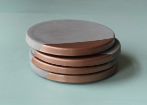Handmade Mothers Day Gifts - Gray Coasters with Copper