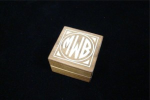 Handmade Mothers Day Gifts - Monogrammed Engagement Ring Box