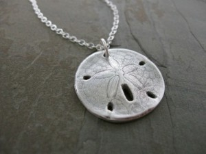 Handmade Mothers Day Gifts - Silver Sand Dollar Necklace