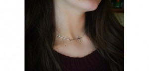 Handmade Mothers Day Gifts - Silver Sideways Simple Cross Necklace