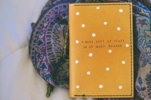 Handmade Mothers Day Gifts - Women's Leather Passport Holder - Mustard 01