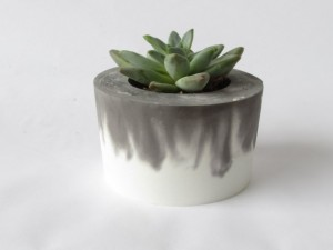 Mother's Day Gift Guide for Every Type of Mom - Angela Horn - Black and White Concrete Planter || Cement Pot 02