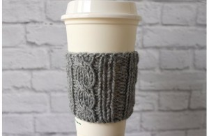 Mother's Day Gift Guide for Every Type of Mom - Angela Horn - Cabled Coffee Cozy, Knit Coffee Cup Cozy, Reusable Coffee Cozy